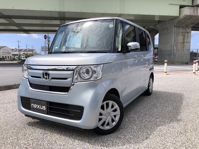 沖縄の中古車 ホンダ N-BOX 車両価格 127.5万円 リ済別 2020(令和2)年 0.4万km ライトブルー