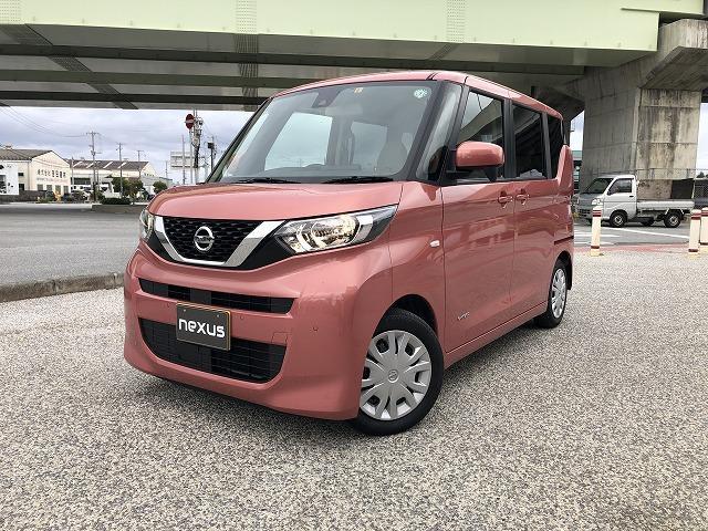 沖縄の中古車 日産 ルークス 車両価格 117.8万円 リ済別 2020(令和2)年 0.9万km ピンク