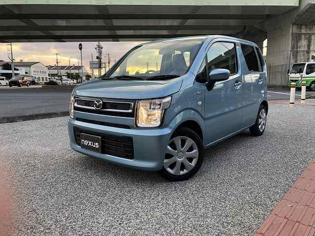 沖縄の中古車 マツダ フレア 車両価格 95万円 リ済別 2020(令和2)年 1.0万km ライトブルー