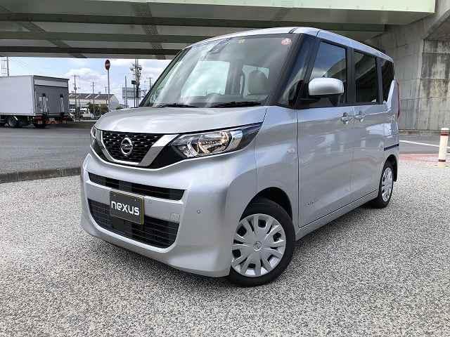 沖縄の中古車 日産 ルークス 車両価格 117.8万円 リ済別 2020(令和2)年 0.7万km シルバー
