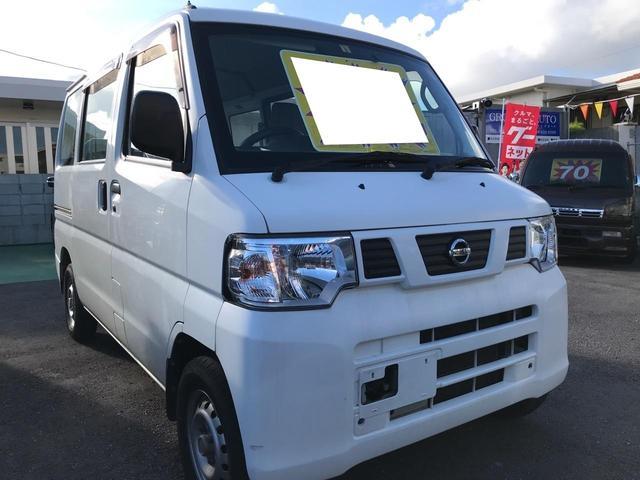 沖縄の中古車 日産 NV100クリッパーバン 車両価格 50万円 リ済込 平成25年 8.7万km ホワイト