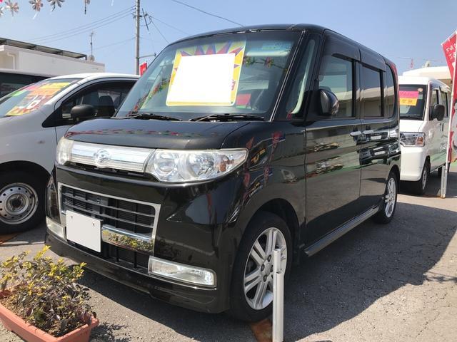 沖縄の中古車 ダイハツ タント 車両価格 46万円 リ済込 平成21年 9.7万km ブラックマイカ
