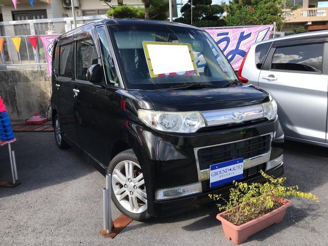 沖縄の中古車 ダイハツ タント 車両価格 43万円 リ済込 2009(平成21)年 9.7万km ブラックマイカ