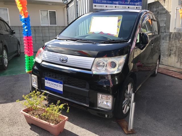 沖縄の中古車 ダイハツ ムーヴ 車両価格 35万円 リ済込 2010(平成22)年 10.7万km ブラックマイカ
