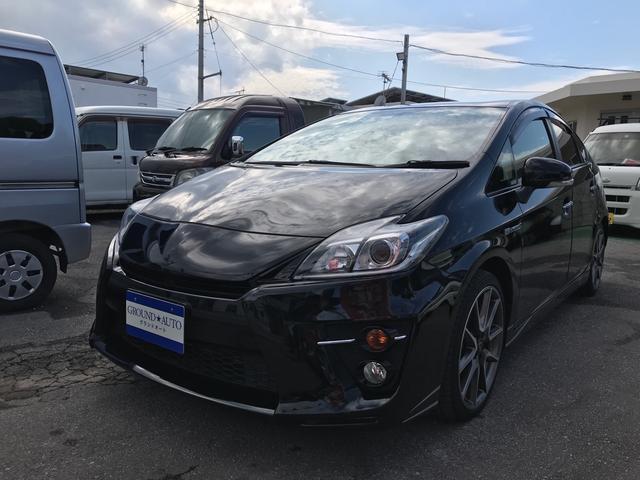 沖縄の中古車 トヨタ プリウス 車両価格 187万円 リ済込 2013(平成25)年 6.5万km ブラックM