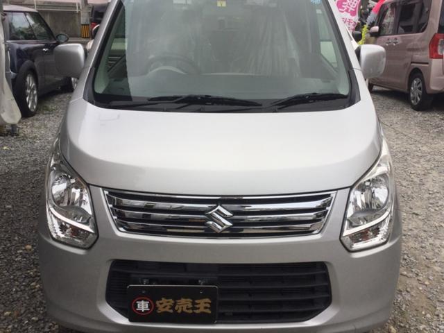沖縄の中古車 スズキ ワゴンR 車両価格 30万円 リ済込 平成25年 9.9万km シルバー