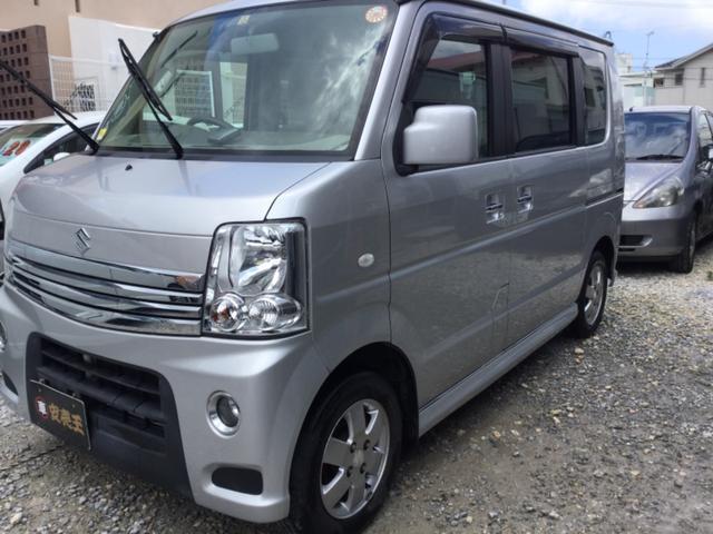 沖縄の中古車 スズキ エブリイワゴン 車両価格 63万円 リ済込 2013(平成25)年 9.5万km シルバー