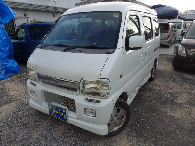 沖縄の中古車 スズキ エブリイワゴン 車両価格 25万円 リ済込 2002(平成14)年 11.7万km パールホワイト