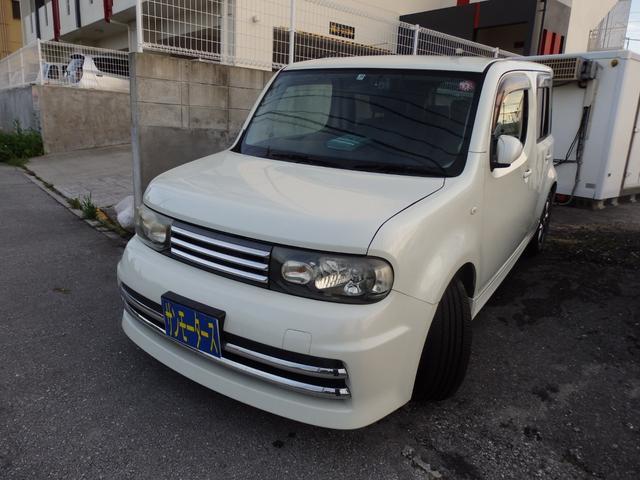 沖縄の中古車 日産 キューブ 車両価格 38万円 リ済込 2009(平成21)年 10.1万km パールホワイト