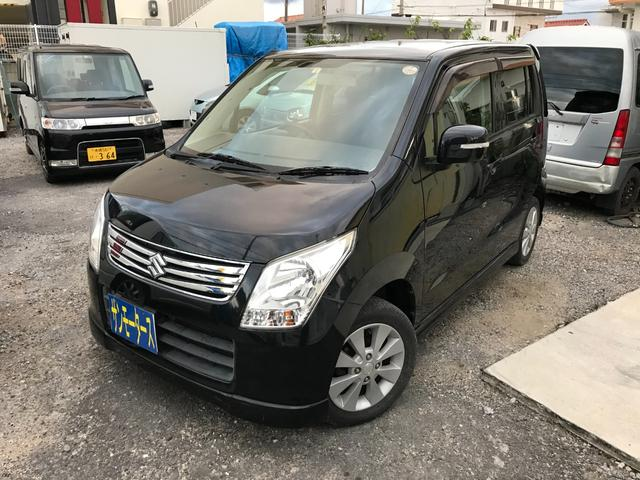 沖縄の中古車 スズキ ワゴンR 車両価格 38万円 リ済込 2012(平成24)年 8.1万km ブラックM