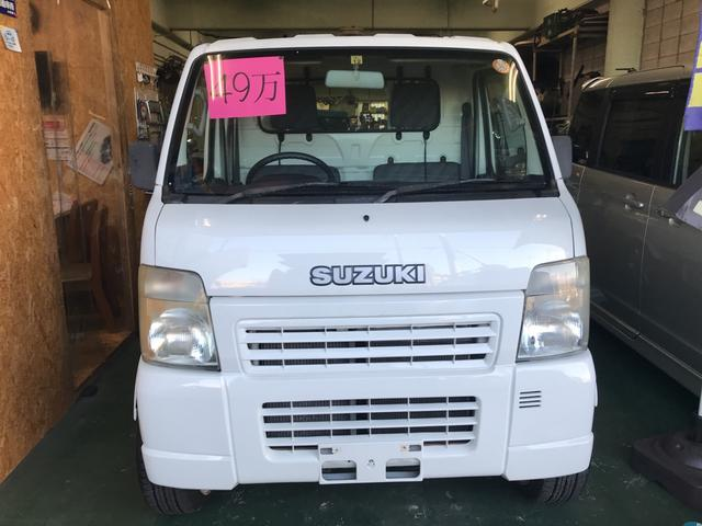 沖縄の中古車 スズキ キャリイトラック 車両価格 45万円 リ済込 2005(平成17)年 11.8万km ホワイト