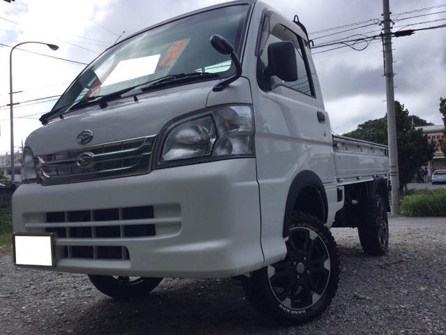 沖縄県沖縄市の中古車ならハイゼットトラック エアコン・パワステ スペシャル 5MT リフトアップ MTタイヤ オーバーフェンダー 2WD