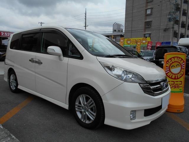 沖縄の中古車 ホンダ ステップワゴン 車両価格 65万円 リ済込 平成20年 9.2万km パール