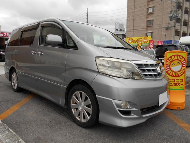 沖縄の中古車 トヨタ アルファードV 車両価格 85万円 リ済込 平成19年 8.4万km シルバー