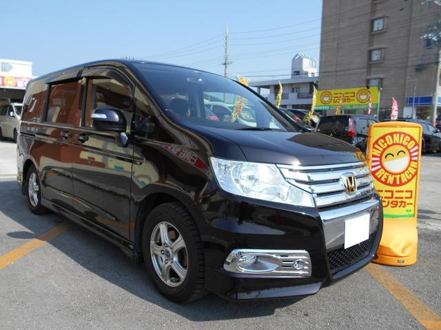 沖縄の中古車 ホンダ ステップワゴンスパーダ 車両価格 105万円 リ済込 平成21年 9.0万km ブラック
