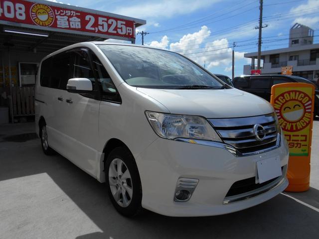 沖縄の中古車 日産 セレナ 車両価格 89万円 リ済込 2010(平成22)年 9.3万km ホワイト