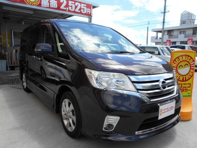 沖縄の中古車 日産 セレナ 車両価格 81万円 リ済込 2012(平成24)年 9.2万km ワインII