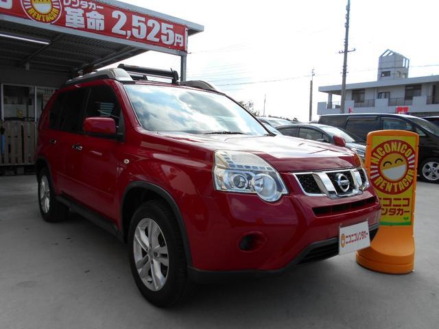 沖縄の中古車 日産 エクストレイル 車両価格 68万円 リ済込 2010(平成22)年 12.3万km レッド