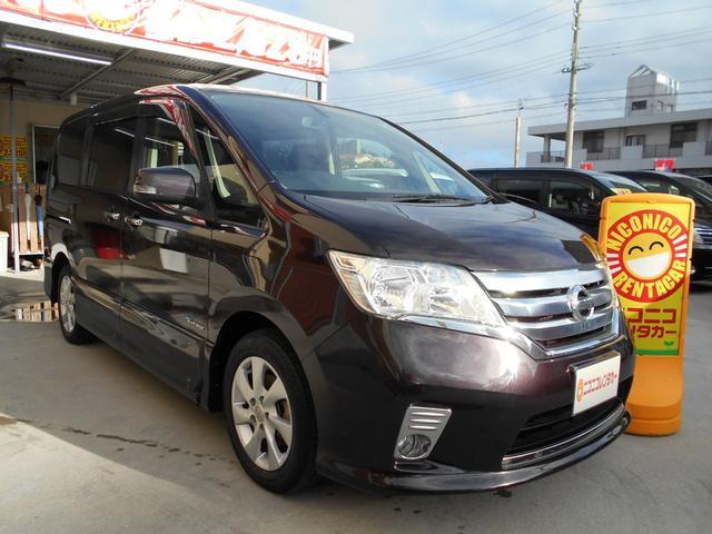 沖縄の中古車 日産 セレナ 車両価格 ASK リ済込 2013(平成25)年 74.0万km ワイン