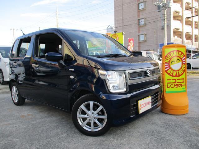 沖縄の中古車 スズキ ワゴンR 車両価格 118万円 リ済込 2019(平成31)年 0.7万km ノクターンブルーパール