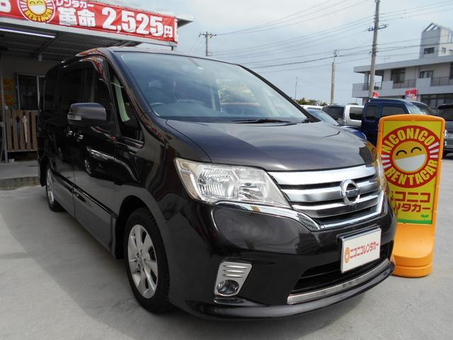 沖縄の中古車 日産 セレナ 車両価格 72万円 リ済込 2012(平成24)年 8.1万km ワイン