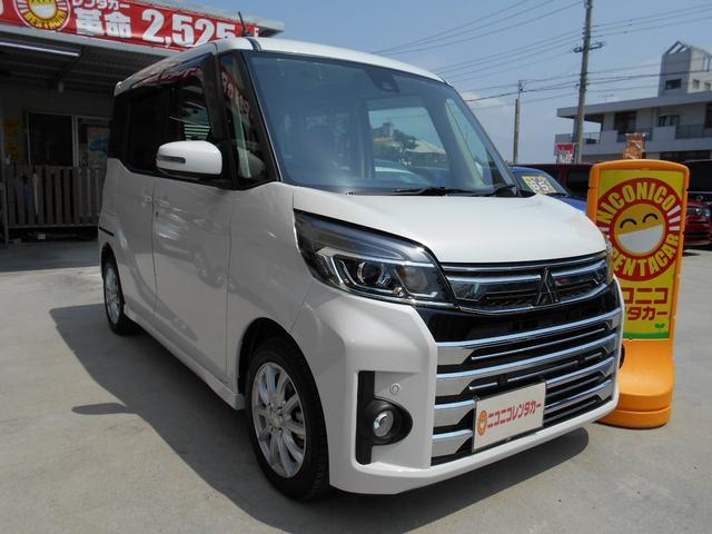 沖縄の中古車 三菱 eKスペースカスタム 車両価格 129万円 リ済込 2019(令和1)年 0.2万km パール