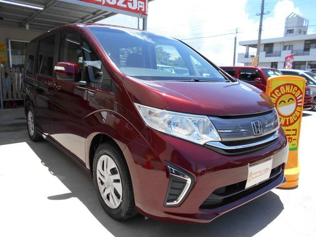 沖縄の中古車 ホンダ ステップワゴン 車両価格 189万円 リ済込 2018(平成30)年 2.8万km ダークレッド