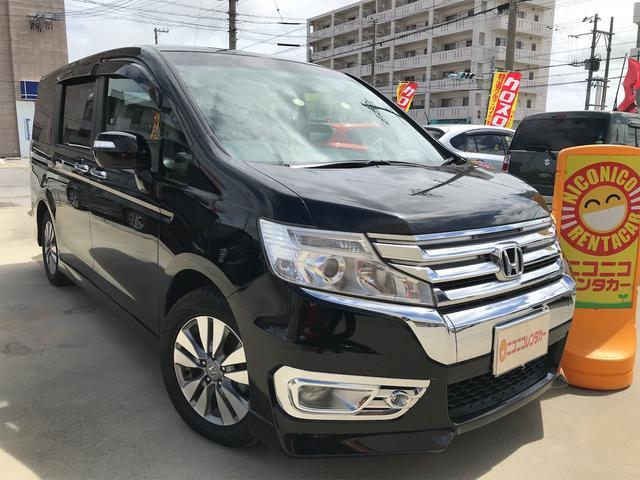 沖縄の中古車 ホンダ ステップワゴンスパーダ 車両価格 88万円 リ済込 2013(平成25)年 9.8万km ブラック