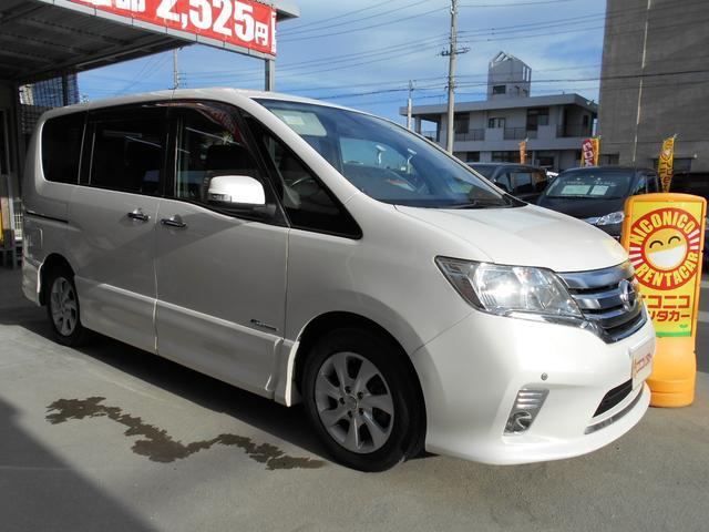 沖縄の中古車 日産 セレナ 車両価格 105万円 リ済込 2013(平成25)年 7.4万km パール