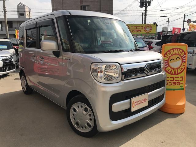 沖縄の中古車 スズキ スペーシア 車両価格 98万円 リ済込 2018(平成30)年 4.1万km シルバー