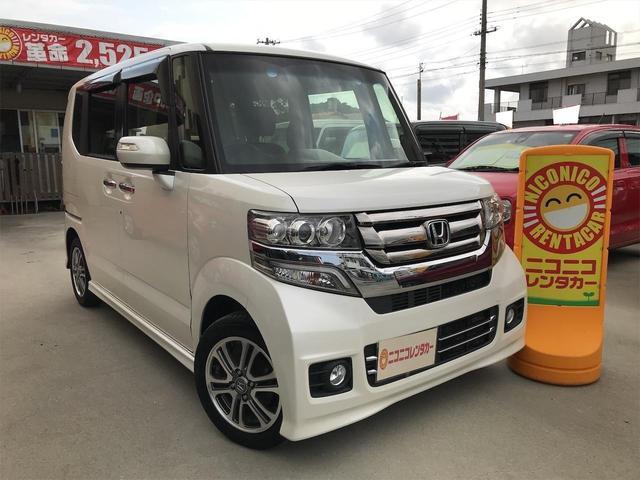 沖縄の中古車 ホンダ N-BOXカスタム 車両価格 99万円 リ済込 2016(平成28)年 8.3万km パール
