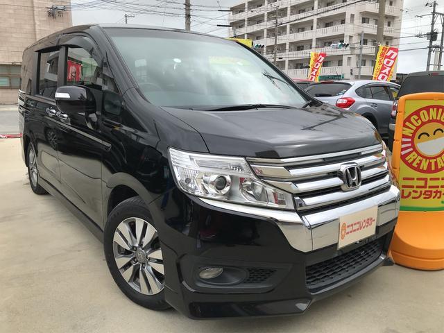 沖縄の中古車 ホンダ ステップワゴンスパーダ 車両価格 87万円 リ済込 2012(平成24)年 9.9万km ブラック