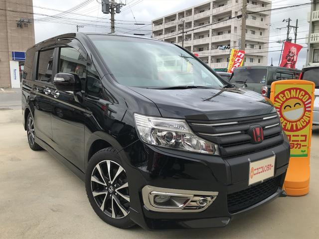沖縄の中古車 ホンダ ステップワゴンスパーダ 車両価格 115万円 リ済込 2013(平成25)年 8.7万km ブラック