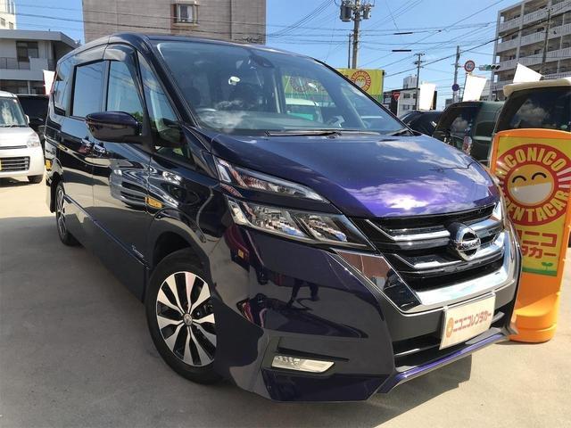 沖縄の中古車 日産 セレナ 車両価格 162万円 リ済込 2016(平成28)年 7.3万km ダークブルー