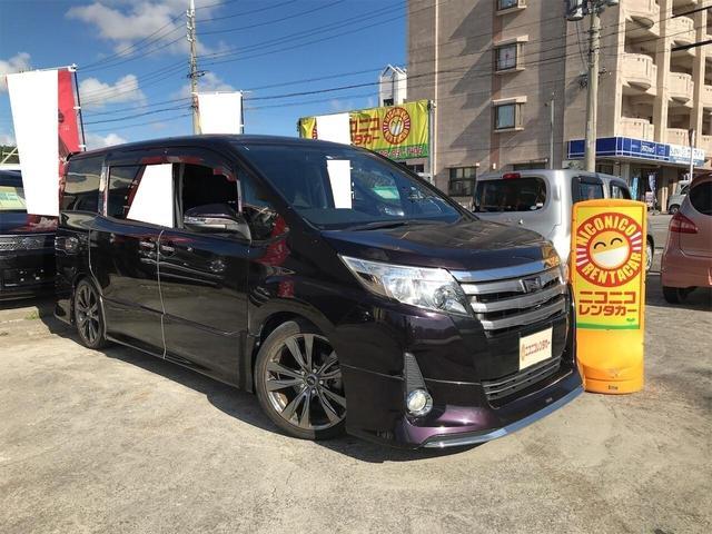 沖縄の中古車 トヨタ ノア 車両価格 159万円 リ済込 2014(平成26)年 8.5万km ワイン