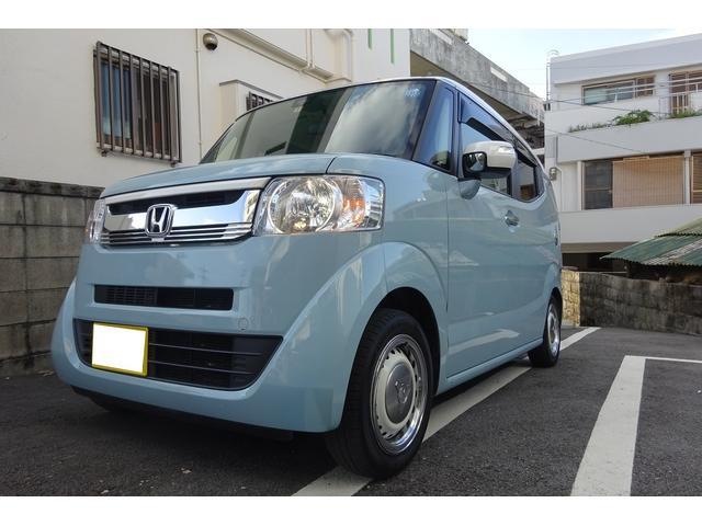 沖縄の中古車 ホンダ N-BOXスラッシュ 車両価格 122万円 リ済込 2017(平成29)年 5.5万km ライトブルーII