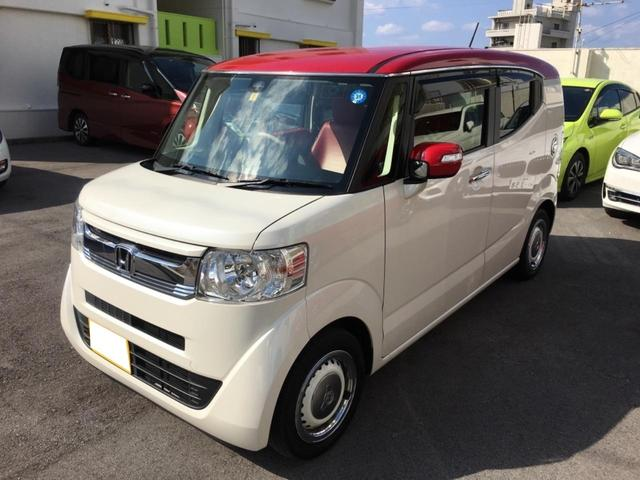 沖縄の中古車 ホンダ N-BOXスラッシュ 車両価格 138万円 リ済込 平成29年 3.9万km ホワイトII