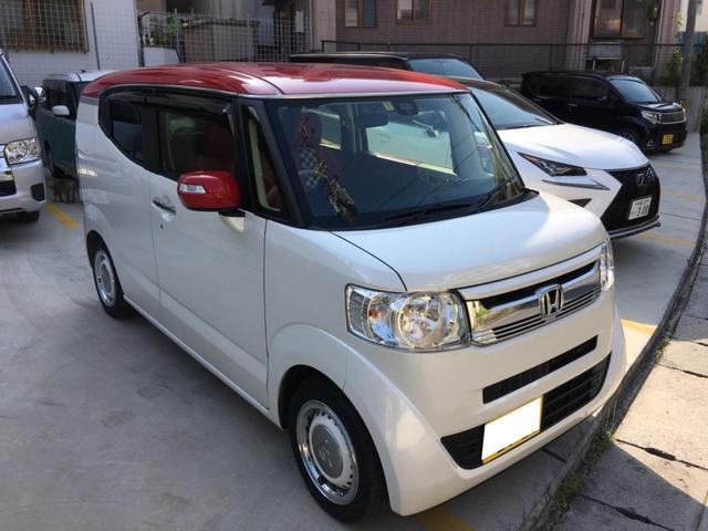 沖縄の中古車 ホンダ N-BOXスラッシュ 車両価格 138万円 リ済込 平成29年 4.3万km パールII