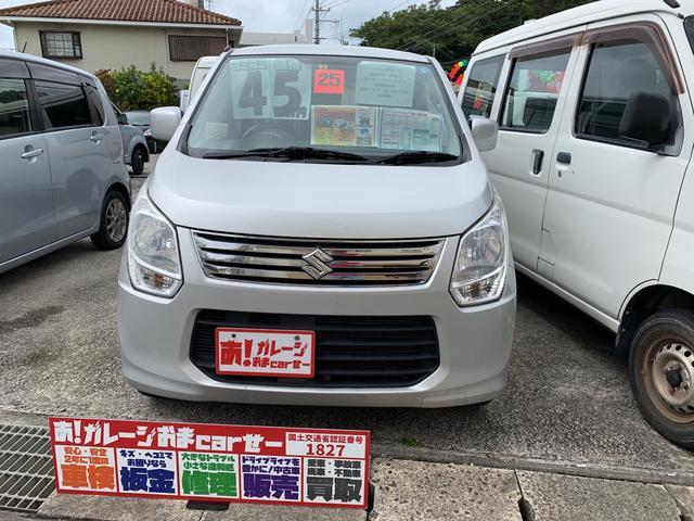 沖縄の中古車 スズキ ワゴンR 車両価格 39万円 リ済込 2013(平成25)年 9.5万km シルバー
