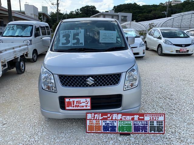 沖縄の中古車 スズキ ワゴンR 車両価格 30万円 リ済込 2008(平成20)年 10.1万km シルバー