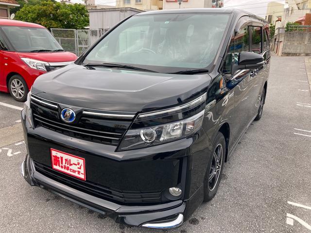 沖縄県の中古車ならヴォクシー ハイブリッドV 本土車輌 2年保証 Bカメラ ETC 両側パワースライド Bluetooth