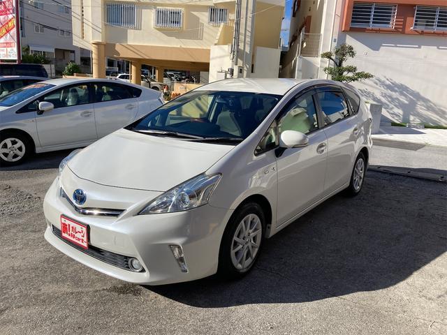 沖縄県の中古車ならプリウスアルファ S 本土車輌 2年保証 ハイブリッド保証 HDDナビ