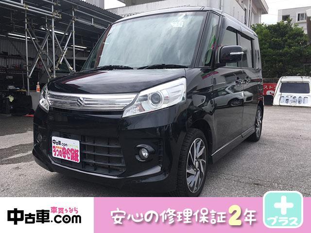 沖縄県の中古車ならスペーシアカスタム TS 安心の2年間保証付 タイヤ新品 両側電動ドア 本土中古