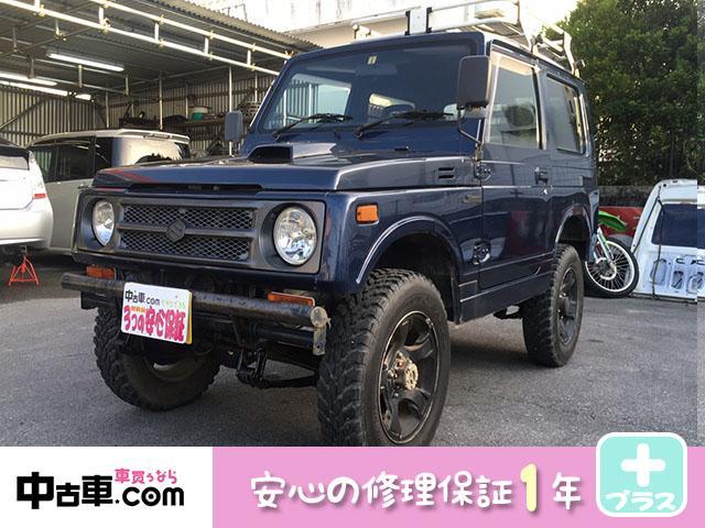 沖縄の中古車 スズキ ジムニー 車両価格 28万円 リ済込 1995(平成7)年 17.2万km 紺