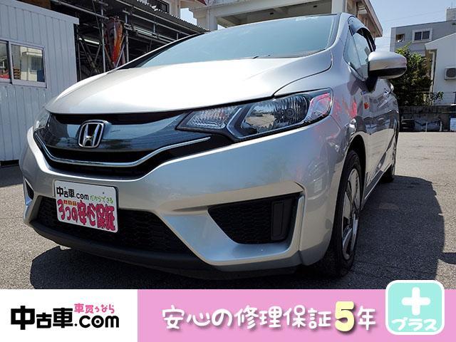 沖縄県の中古車ならフィットハイブリッド 5年保証付(HVバッテリー含む) タイヤ山9分 ワンセグBT