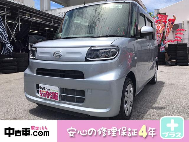 沖縄県南城市の中古車ならタント L 4年保証♪ 音楽も聴けるフルセグBT 両側スライドドア 安心のブレーキサポート搭載車