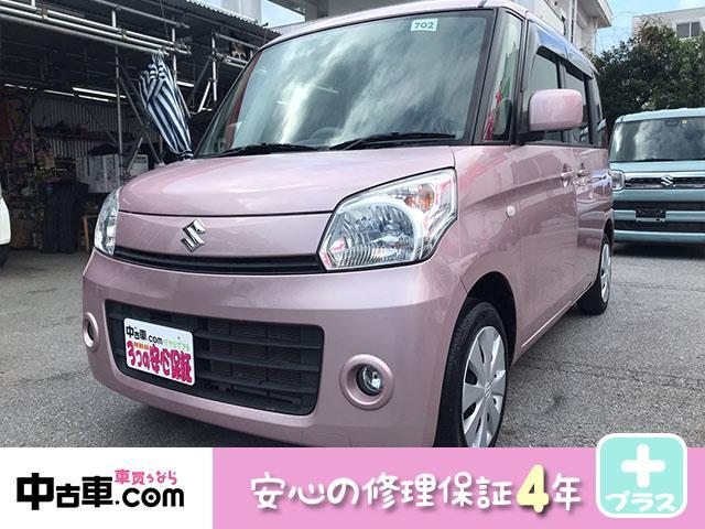 沖縄の中古車 スズキ スペーシア 車両価格 69万円 リ済込 2013(平成25)年 6.3万km ピンク