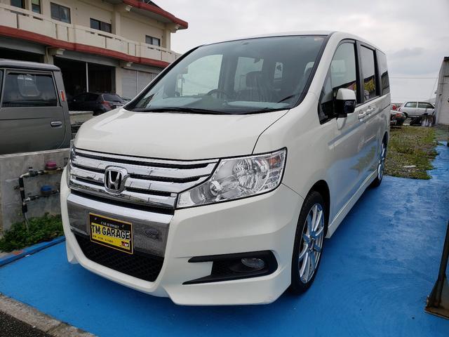 沖縄の中古車 ホンダ ステップワゴンスパーダ 車両価格 92万円 リ済込 2011(平成23)年 8.8万km パールM
