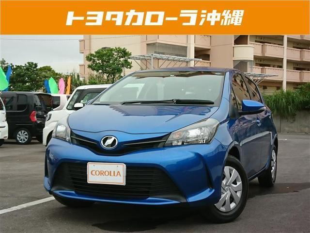 沖縄の中古車 トヨタ ヴィッツ 車両価格 93万円 リ済別 2015(平成27)年 3.4万km ブルー