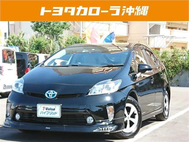 沖縄の中古車 トヨタ プリウス 車両価格 160万円 リ済別 2014(平成26)年 3.8万km ブラック